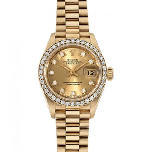 Pre-Owned Rolex 26MM President DateJust Automatic with Diamonds