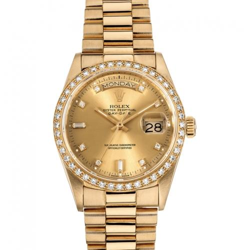 Pre-Owned Rolex 36MM President Day-Date Automatic with Diamonds