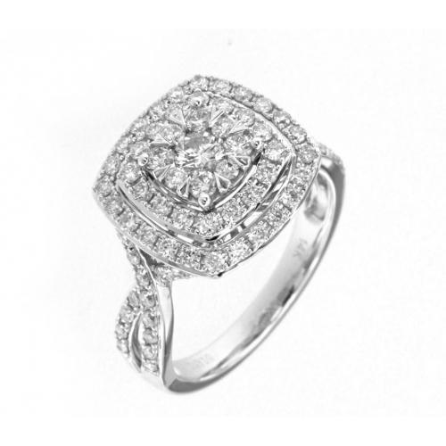 Diani® 1.51 CT.T.W. Diamond Bridal Set in 14K Gold