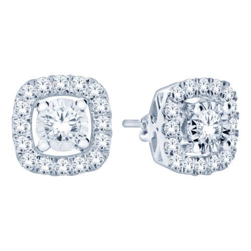 Ultimate Value® 1.00 CT. T.W. Diamond Earrings In 10K Gold