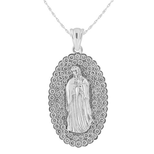 1 3/4 CT. T.W. Diamond Mary Pendant In 14K Gold