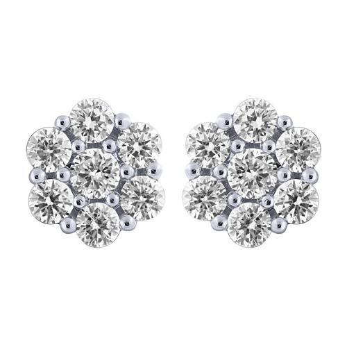 3.00 CT. T.W. Diamond Stud Earrings In 14K Gold
