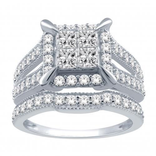 Everlasting Love® 1 1/4 CT. T.W. Diamond Bridal Set In 14K Gold