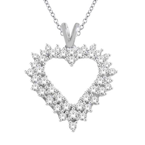 Everlasting Love® 1.00 CT. T.W. Diamond Heart Pendant In 10K Gold