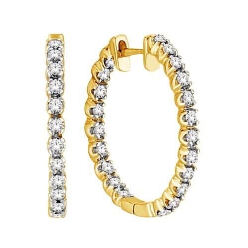Everlasting Love® 1.00 CT. T.W. Diamond Hoop Earrings In 10K Gold