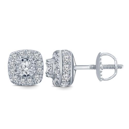 Everlasting Love® 1.00 CT. T.W. Diamond Stud Earrings In 14K Gold