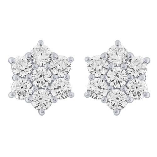 7c0eb4598 Ovani 22® 1 1/2 CT.T.W. Diamond Stud Earrings in 22K Gold ...