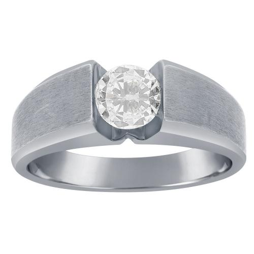 Ovani® Collection 1.00 CT. T.W. Diamond Gent's Ring In 18K Gold