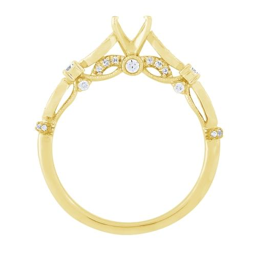 Diani® 1/4 Diamond Bridal Semi Mount in 14K Gold