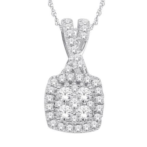 Everlasting Love® 0.63 CT. T.W. Diamond Pendant In 14K Gold