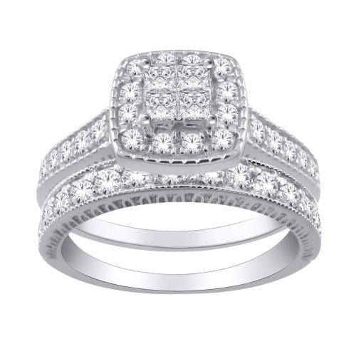 Everlasting Love® 1.75 CT. T.W. Diamond Bridal Set In 14K Gold