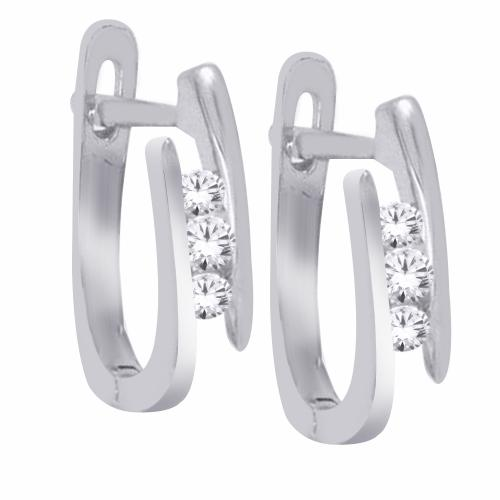 Everlasting Love® 3/20 CT.T.W. Diamond Hoop Earrings in 10K Gold