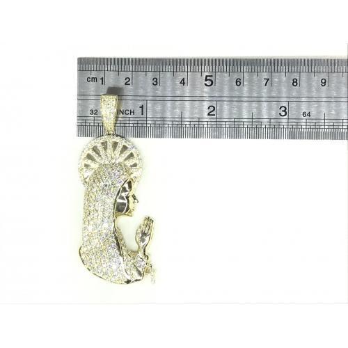 5.10 CT. TW. (VVS-VS CLARITY) DIAMONDS VIRGIN MARY PENDANT IN 14KT YELLOW GOLD