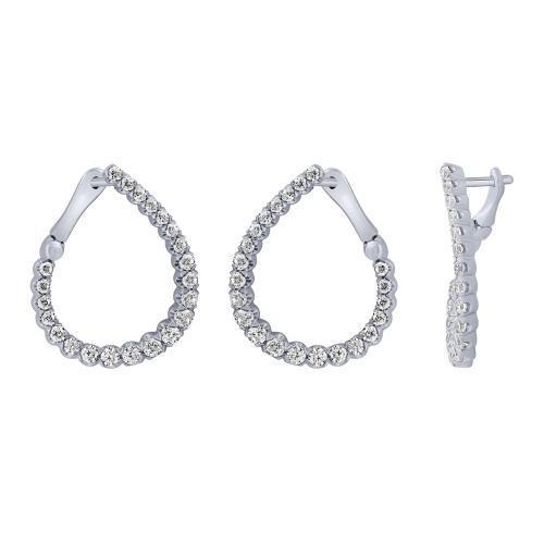 Diani® Collection 1 CT. T.W. Diamond Hoop Earrings In 14K Gold