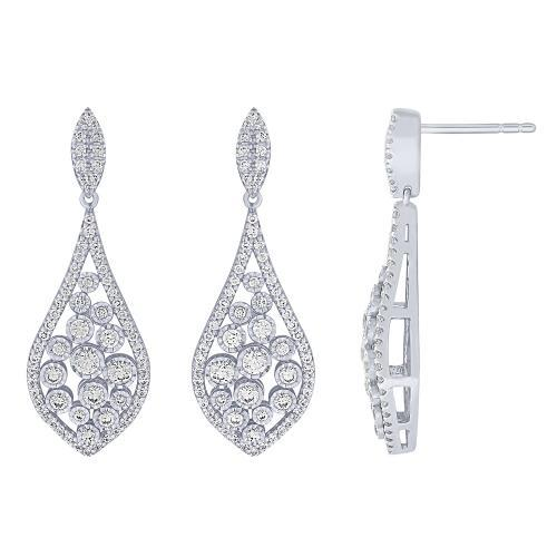 Diani® Collection 1 CT. T.W. Diamond Illusion Earrings In 14K Gold