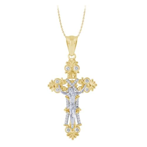 Ovani®-22 0.50 CT. T.W. Diamond Cross Pendant In 22K Gold