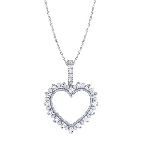 0.25CT. T.W. DIAMOND HEART PENDANT IN 10K GOLD