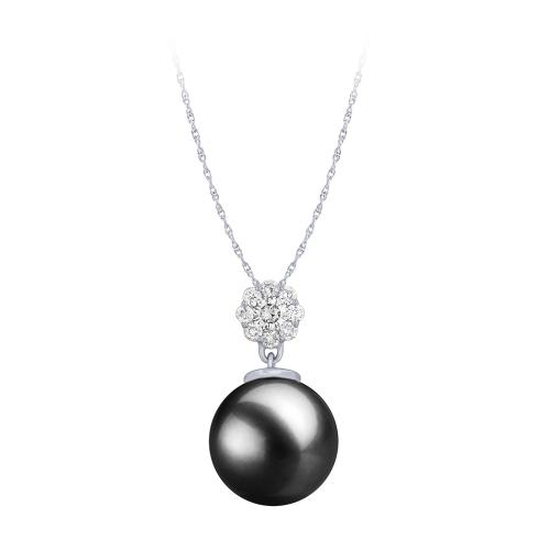 0.2 CT. T.W. Freshwater Pearl Pendant In 14K Gold