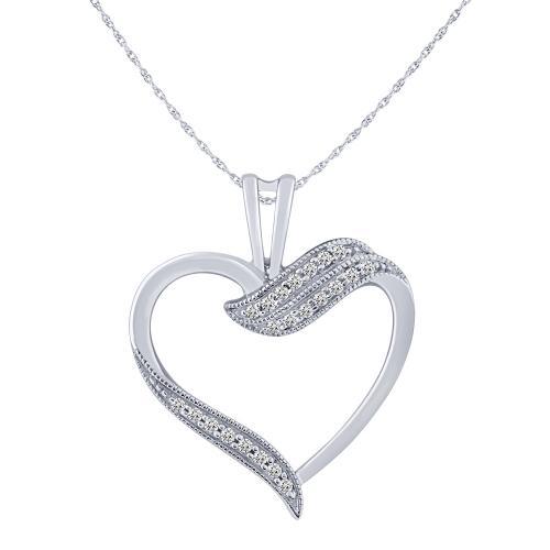 0.11CT. T.W. DIAMOND HEART PENDANT IN 10K GOLD