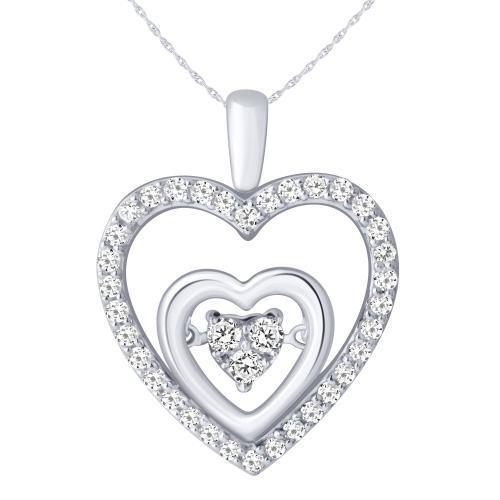 0.33CT. T.W. DIAMOND HEART PENDANT IN 10K GOLD