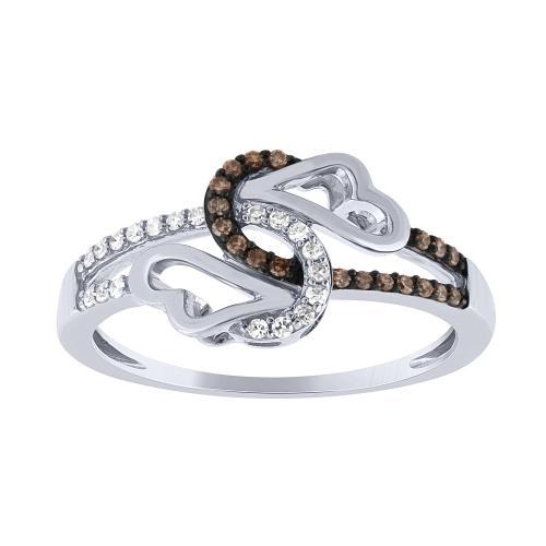 0.15 CT. T.W. Heart Shape Diamond Ring In 14K Gold