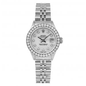 Pre-Owned Rolex 26mm DateJust in Stainless Steel with Diamond Bezel