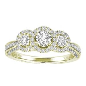 Ovani® 1/2 CT.T.W. Diamond 3Stone Ring in 18K Gold