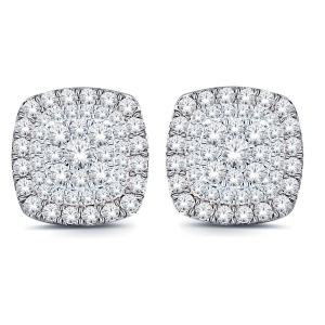 1.00 CT.T.W. Diamond Halo Earrings in 10K Gold
