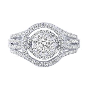 1.00 CT.T.W. Diamond Designer Lady's Ring in 14K Gold