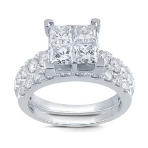 2.00 CT. T.W. Diamond Quad Bridal Set In 14K Gold