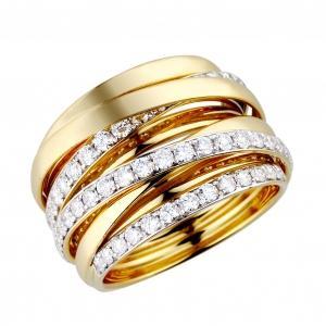 Ovani® 1.18 CT.T.W. Diamond Lady's Ring in 18K Gold