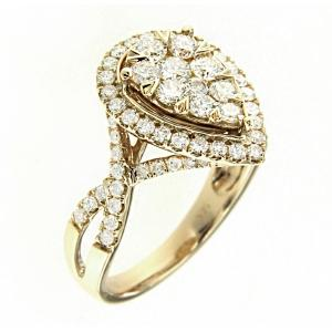 Diani® 1 1/2 CT.T.W. Diamond Lady's Ring in 14K Gold