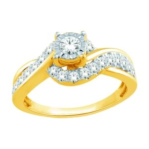 1/2 Ct.t.w. Diamond Promise Ring in 14K Gold