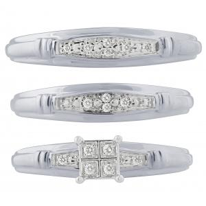 1/10 CT. T.W. Diamond Trio Set In 10K Gold