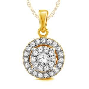 Everlasting Love® 1/2 CT.T.W Diamond Halo Pendant in 14K Gold