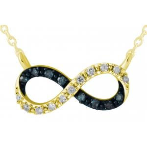 10KT  GOLD 0.08CT DIAMOND INFINITY NECKLACE