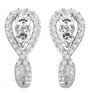 14KT GOLD 0.75CT DIAMOND EARRING