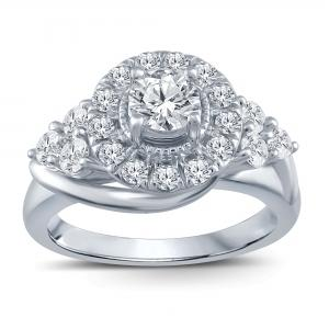 1/2 CT.T.W. Diamond Promise Ring in 10K Ring