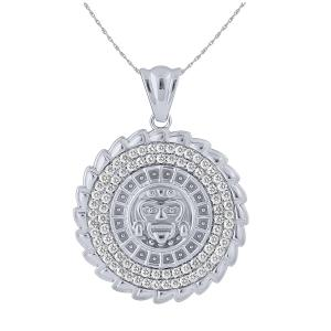 1.00 CT.T.W. Diamond Calendario Pendant in 14K Gold