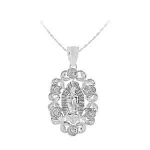 1/5 CT. T.W. Diamond Mary Pendant In 14K Gold