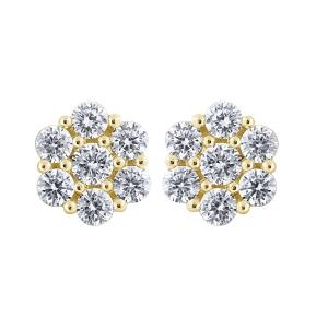3.00 CT.T.W. Diamond Stud Earrings in 14K Gold