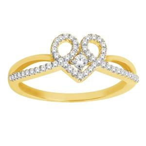 1/5 CT.T.W. Diamond Heart Shaped Promise Ring in 10K Gold