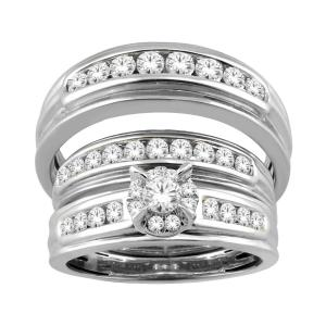Everlasting Love® 1.00 CT. T.W Diamond Trio Set In 14K Gold