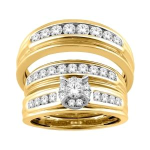 Everlasting Love® 1.00 Ct.t.w Diamond Trio Set in 14K Gold