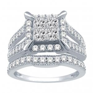 Everlasting Love® 1 1/4 CT. T.W. Diamond Bridal Set In 14K Gold