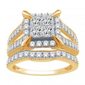 Everlasting Love® 1 1/4 CT.T.W. Diamond Bridal Set in 14K Gold