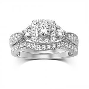 7/10 CT.T.W. Diamond Bridal Set in 14K Gold