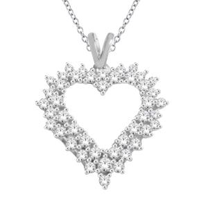 Everlasting Love® 1.00 CT. T.W. Diamond Heart Pendant In 10K Gold