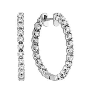 Everlasting Love® 1.00 CT. T.W. Diamond Hoop Earrings In 10K Gold