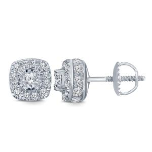 Everlasting Love® 1.00 CT. T.W. Diamond Stud Earrings In 14K Gold